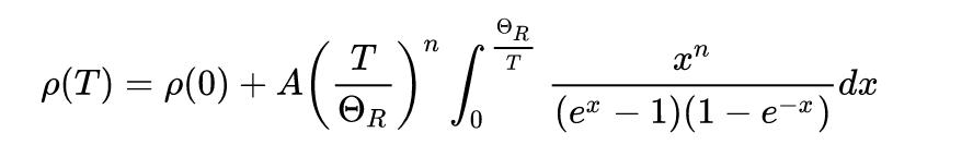 Sự phụ thuộc nhiệt độ của điện trở suất