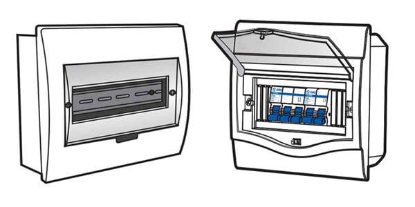 chọn kích thước vỏ tủ điện theo module